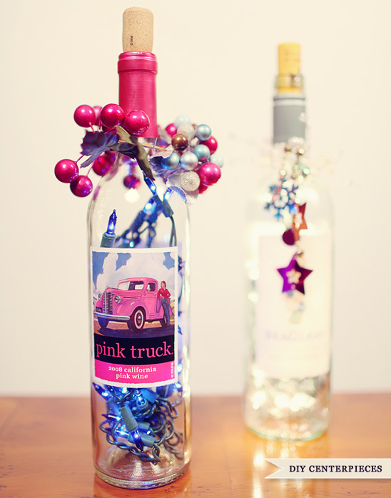 Do It Yourself Wine Bottle Centerpieces