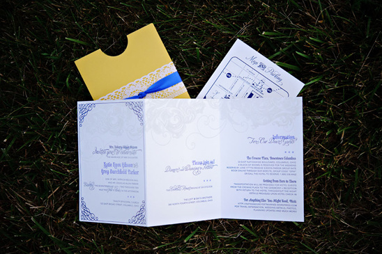 Yellow and Cobalt Blue Wedding From Corey Ann