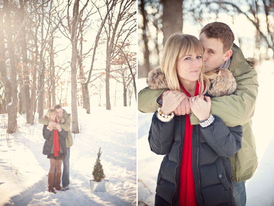 wisconsin engagement, winter engagement, Emily Steffen Photographer, Wisconsin wedding photographer