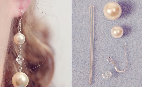 Do It Yourself Drop Pin and Crystal Earrings