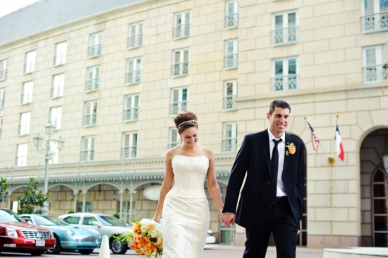 Dallas Crescent Hotel Wedding Bride and Groom