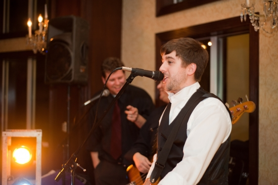 Wedding Guest Singing with the Band