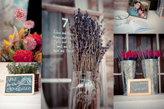 texas wildflowers for reception decor