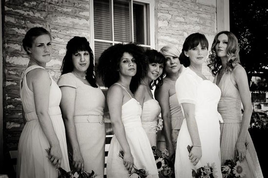 hip bridal party in uniqu dresses