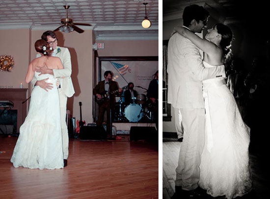 bride and groom first dance to sade sung by country band