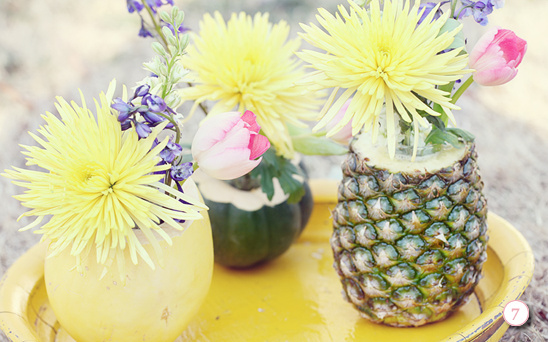 Do It Yourself Fresh Fruit and Flowers Centerpiece