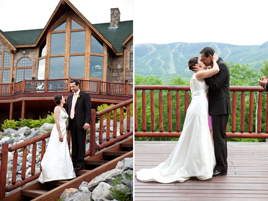 Ski 'shack' wedding in the mountains of Maine