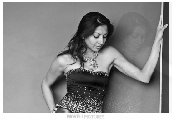black and white image of sexy indian woman