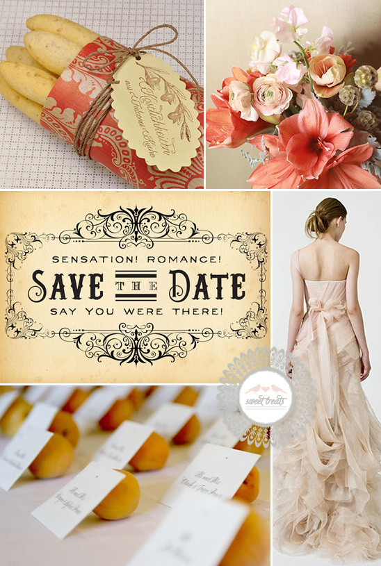 Sweet Treats + Romantic Peach Wedding Ideas