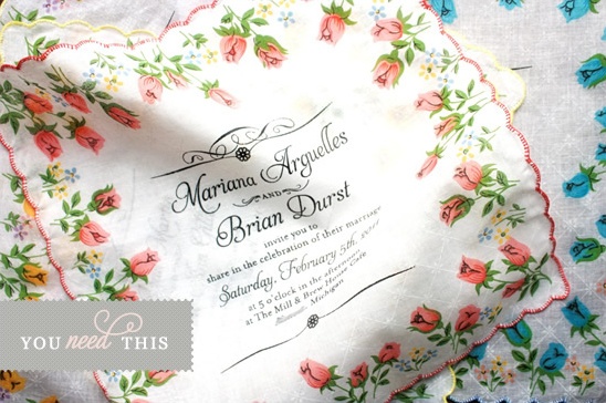 You Need This Custom Handkerchief Invitation