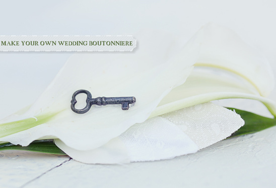 Do It Yourself Wedding Bouquet Boutonniere