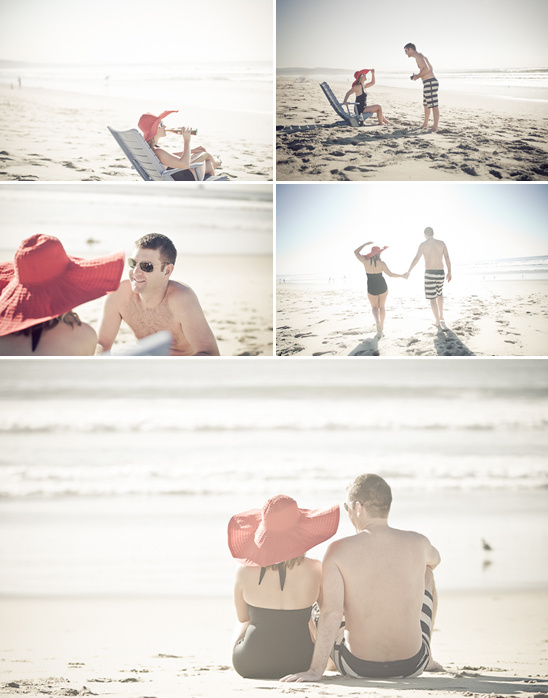 Vintage Inspired Beach Engagement Session From Constance Curtis