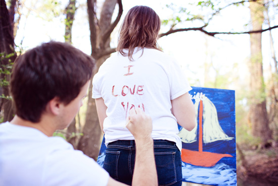 Engagement Photography Paint