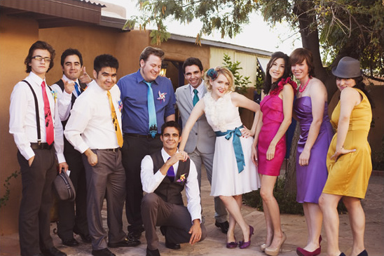 A Bright And Colorful DIY Wedding By Heather Curiel Photography