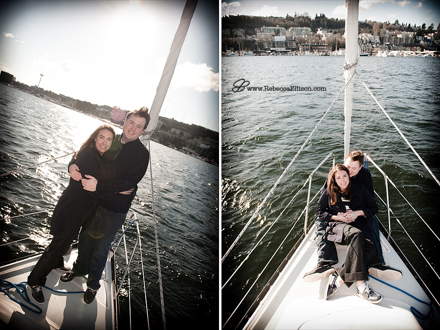 Seattle - Lake Union Sailboating Engagement Session
