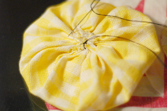 Fabric and Buttons Do It Yourself Wedding Bouquets