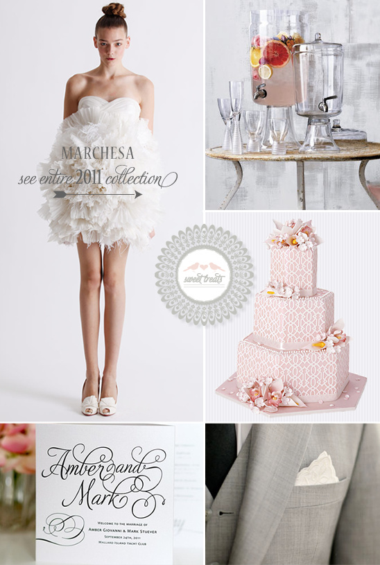 Sweet Treats + Marchesa 2011 Wedding Dresses