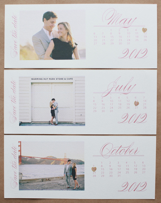 Do It Yourself Photo Save the Date Calendar Cards