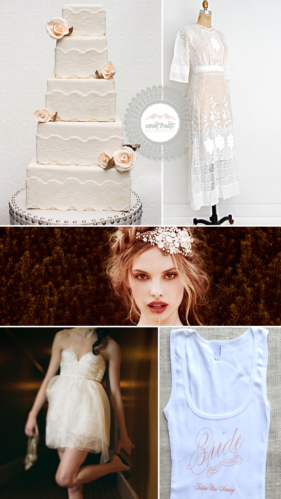 Sweet Treats + Vintage Wedding Cake