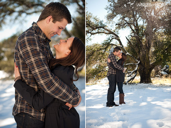 Snowy San Diego Engagement Session