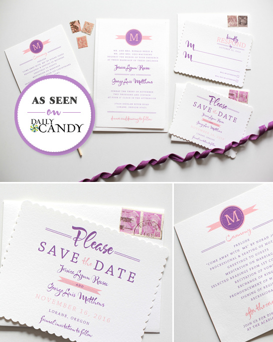 Modern Monogram Do It Yourself Printable Wedding Invitations