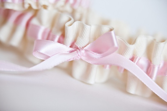 wedding garter - pink and ivory - style 251 - the garter girl by julianne smith 1 copy