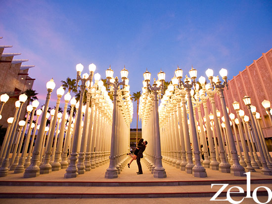A DOG-gone Modern Engagement Session at LACMA