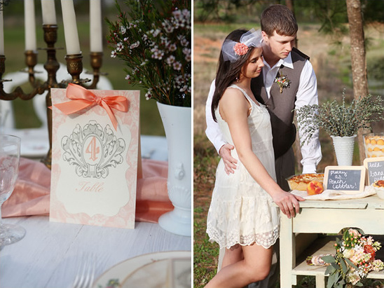 Simply Southern Peach Wedding Ideas