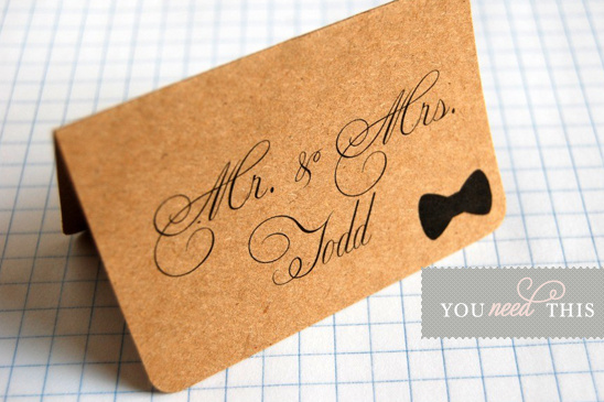 You Need This Bow Tie Place Card Set