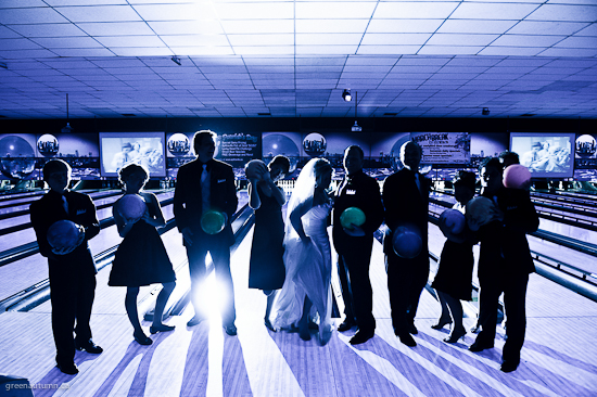 Amber + Troy | Hamilton Wedding Photographer |Splitsville Bowling