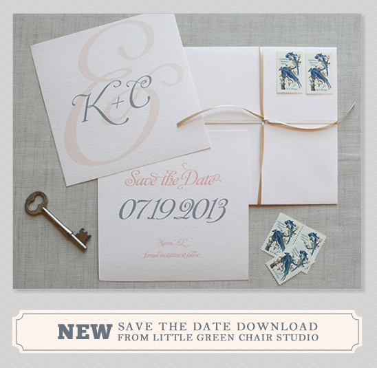 Elegant Do It Yourself Save the Date Cards