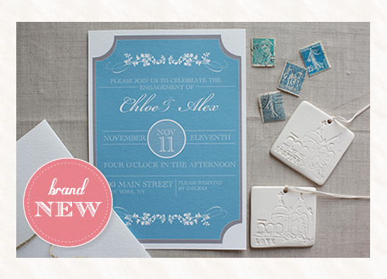 blog - new customizable free engagement invitation, Birthday invitations