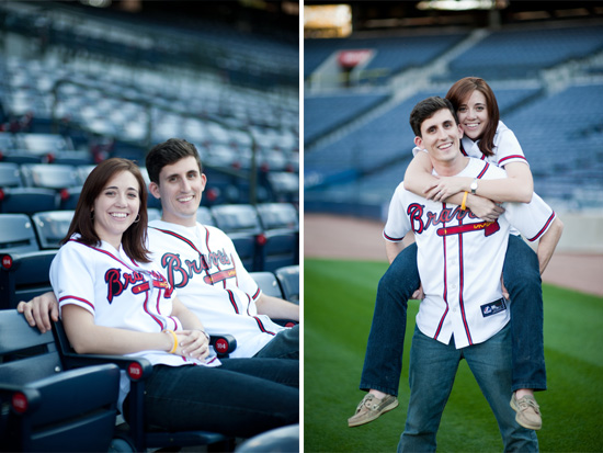 Turner Field Engagement Picture Photo