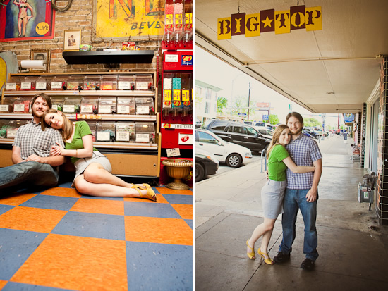 Candy, Cupcakes and Comics - Austin Engagement Session