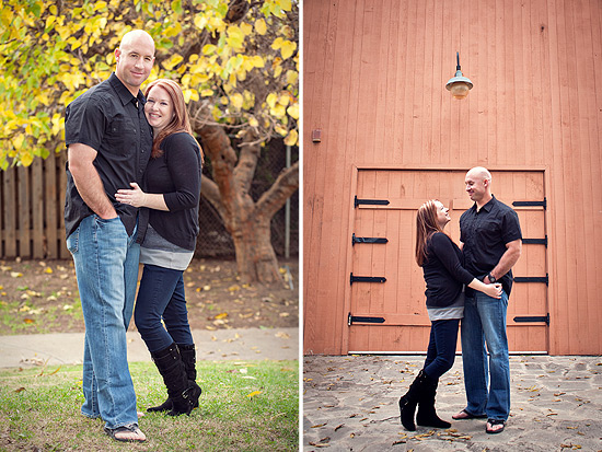 Old Towne Orange Engagement Photos: Kari + Chris