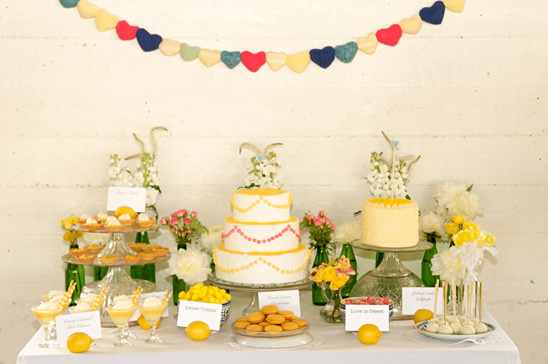 Shabby Chic Lemon Wedding Ideas