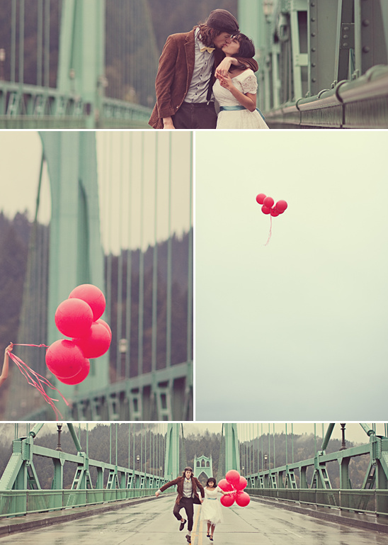 Nena's 99 Red Balloons Engagement  Shoot
