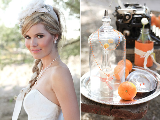 Orange Anthropologie Inspired Wedding