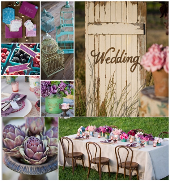 Wedding Design : Gorgeous Violet and Vintage