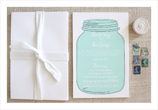 blog  new mason jar wedding invitation suite, Wedding invitations