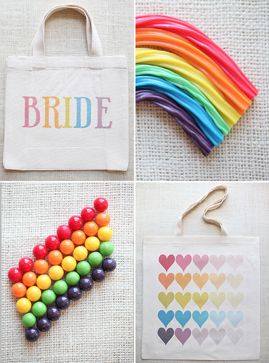 Ombre Wedding Totes