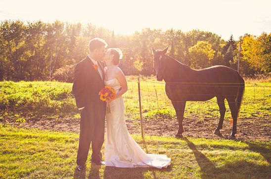 DIY Minnesota Farm Wedding