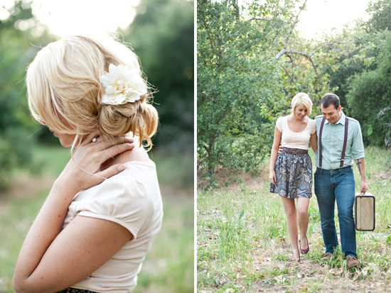 Orange County Vintage Engagement Session