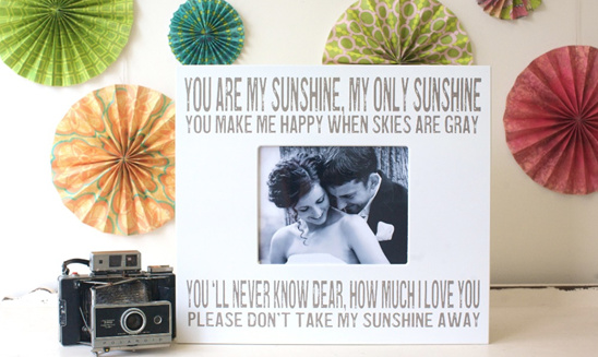 Chick Lingo Keepsake Wedding Frames