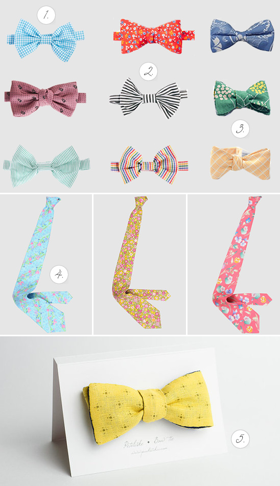 Smart Bow Ties For The Groom And His Men