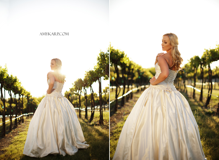 Vineyard Bridals Near Dallas Texas by Amy Karp Photography