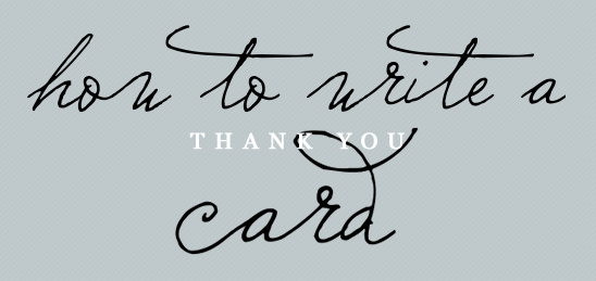 How To Write A Thank You Card