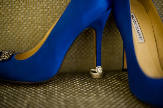 Manolo Blahnik wedding shoe