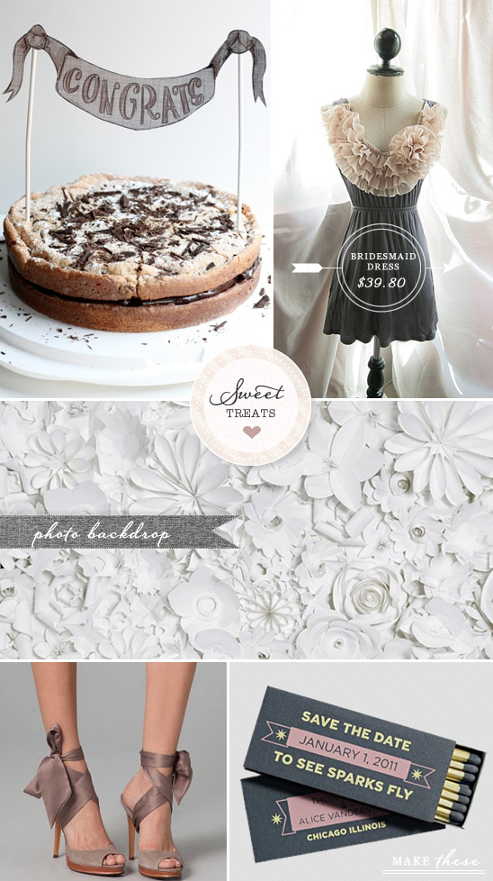 Sweet Treats + Gray Wedding Ideas