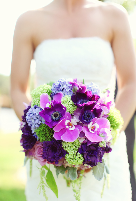 Vintage romantic purple green wedding junglespirit